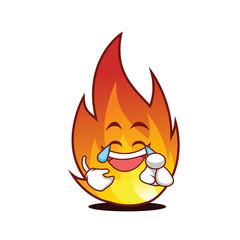 Joy fire character cartoon style