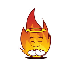 Innocent fire character cartoon style