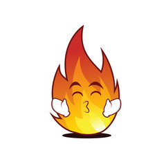 Kissing smile eyes fire character cartoon style