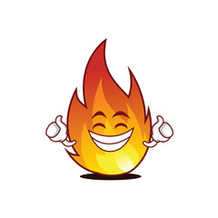 Proud fire character cartoon style
