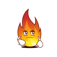 Smirking fire character cartoon style