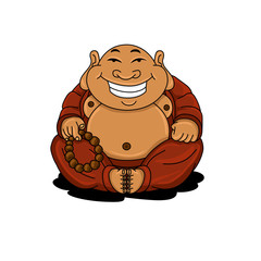 Round Cartoon Buddha