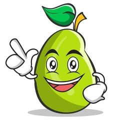 Have an idea mango fruit character cartoon