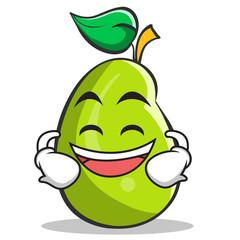 Grinning mango fruit character cartoon