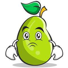 Moody mango fruit character cartoon