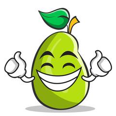 Proud mango fruit character cartoon