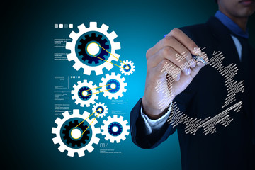 concept of new business idea and technology