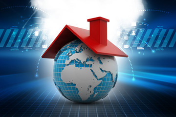 Global real estate concept