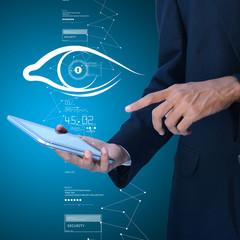 Man search about the human eye