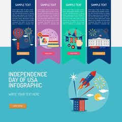 Infographic Independence Day of USA
