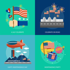 Independence Day of USA Conceptual Design