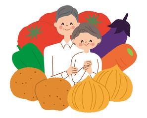 シニア 夫婦 野菜
