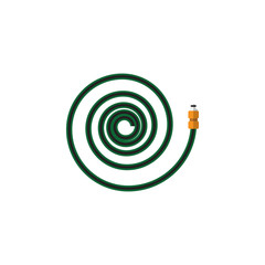 Isolated Garden Hose Flat Icon. Hosepipe Vector Element Can Be Used For Garden, Hose, Hosepipe Design Concept.