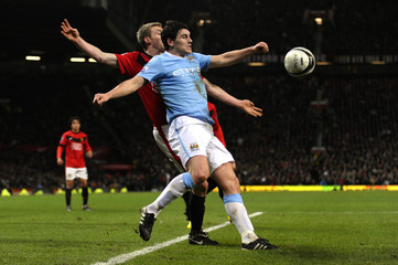 Manchester United v Manchester City Carling Cup Semi Final Second Leg