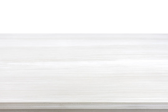 White wood table top for  background