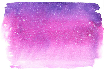 Watercolor violet and pink gradient background with white dots