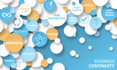 BUSINESS CONTINUITY Vector Concept Banner
