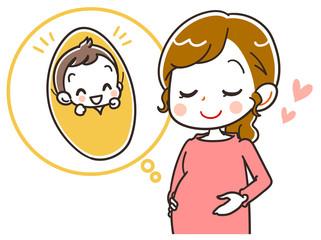 妊娠のイラスト素材