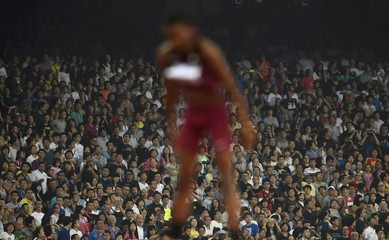 Barshim of Qatar competes in men's high jump final at 15th IAAF World Championships at the National Stadium in Beijing