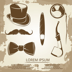 Getlemen style objects - cylinder, bow tie