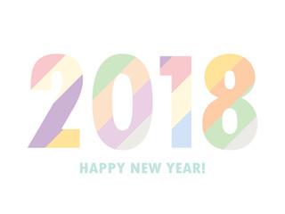 2018 New year text design vector illustration