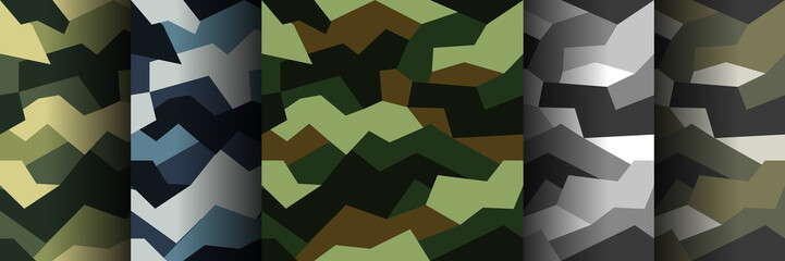 Vector seamless pattern camouflage
