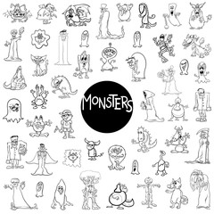 monster characters big set