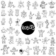 robot characters big set