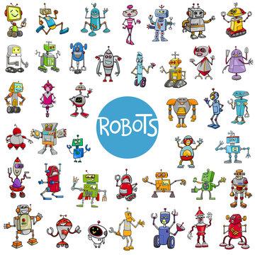 cartoon robot characters big set