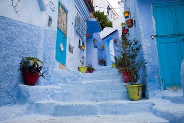 Street in blue city