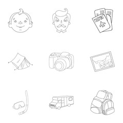 Family, family traditions, recreation. Family life.Family holiday icon in set collection on outline style vector symbol stock illustration.