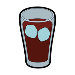isolated cold coke drink icon vector illustration graphic design