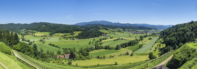 panoramic view from the Hochburg Emmendingen