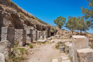 Ruins of the antique Ephesus. Selcuk in Izmir Province, Turkey.