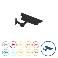 Runde Schaltflächen - Kamera - Überwachungskamera