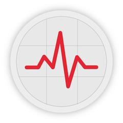 Icon Schaltfläche - Herzschlag