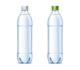 Blank plastic bottles 0,5L with orange juice