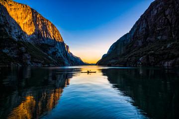 Sunset on the Kayak