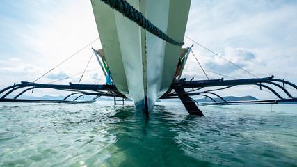 Below the boat