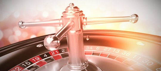 Composite image of 3d image of roulette wheel