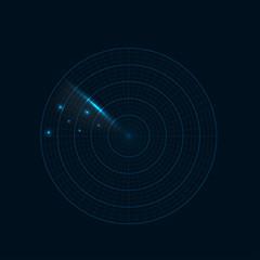 Realistic radar illustration