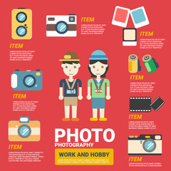 Photography Infographics, vector illustration