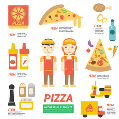 Pizza Infographics, vector illustration
