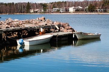 Jetty and boats in Helsinki