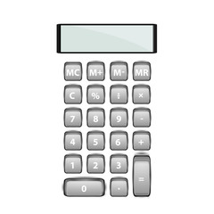 Calculator icon vector. Savings, finances sign isolated on white, economy concept, Trendy Flat style for graphic design, Web site