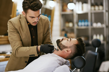 Handsome man at barbershop
