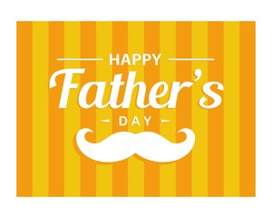 Happy father's day logo design vector