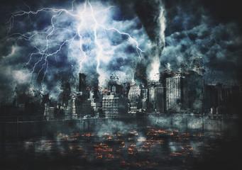 Disaster film poster Wall mural