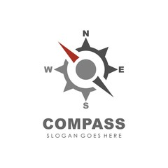 Compass logo design vector