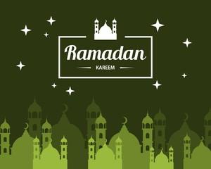 "Abstract ""Ramadan Kareem"" illustration design. Islamic celebration"